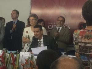 President Paulo Abrão (seated) and vice-president Sueli Bellato